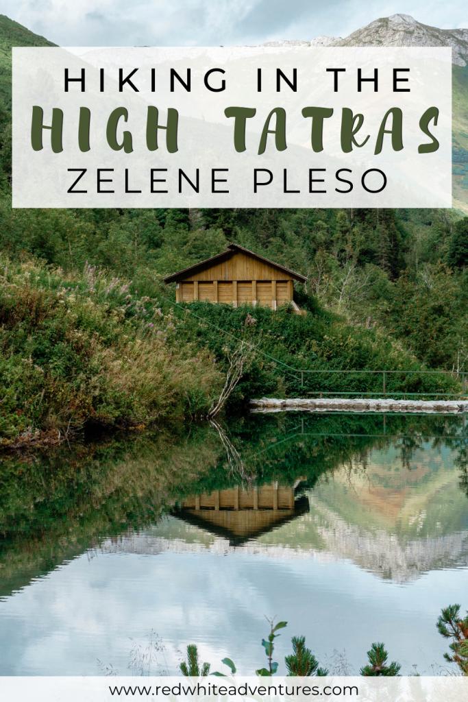 Pin for Pinterest of hiking Zelene Pleso.