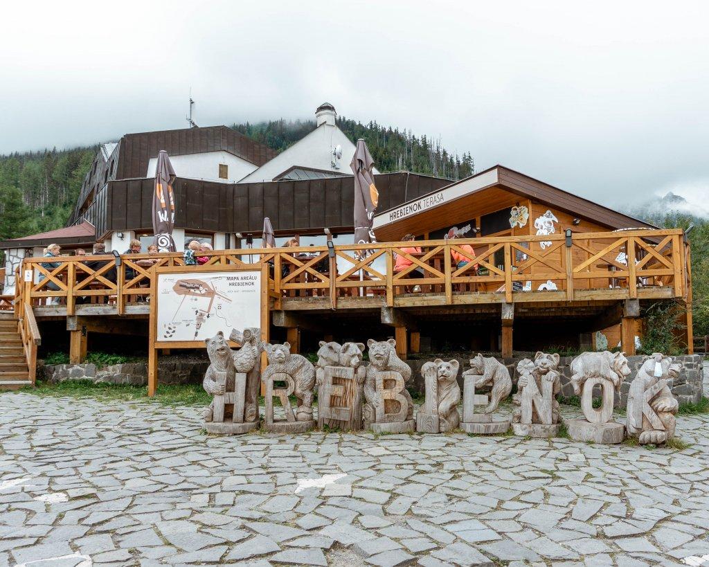 Hrebienok ski resort in Slovakia.