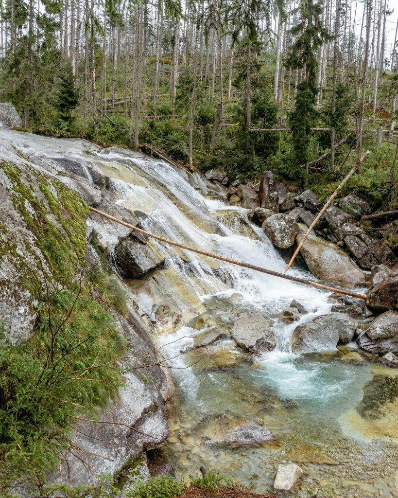 Hrebienok waterfall in Slovakia.