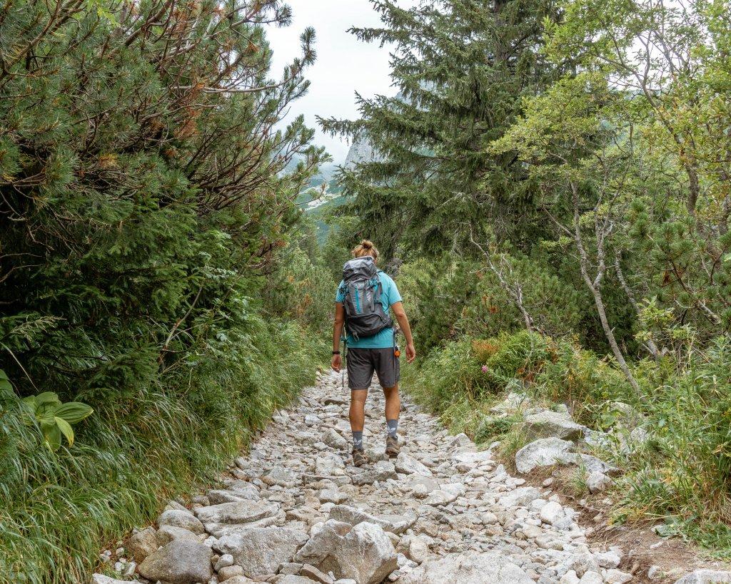 Beautiful hike in the High Tatras in Slovakia.