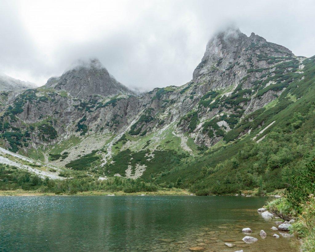 Zelene Pleso lake in Slovakia.