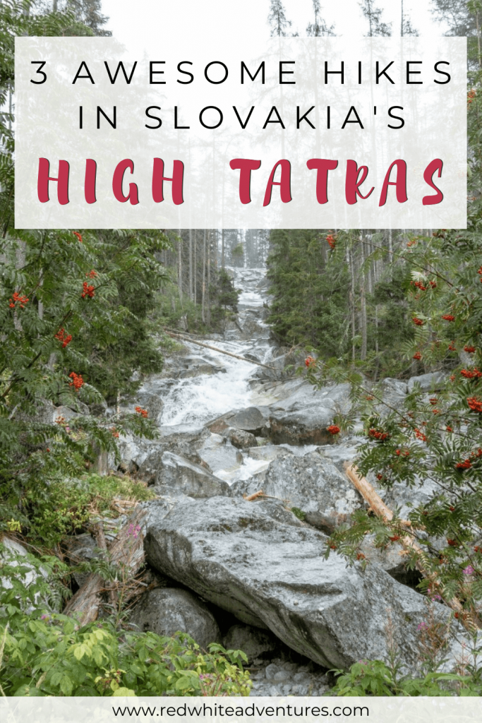 Pin for Pinterest of amazing hiking trails in the High Tatras.