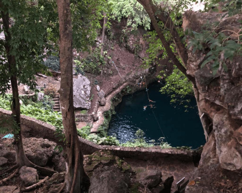 Cenote Zaci îs a beautiful cenote near Valladolid.