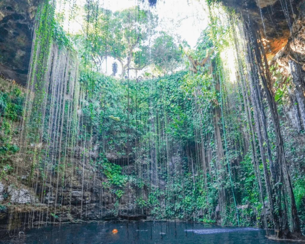 A beautiful cenote near Tulum is Ik Kil.