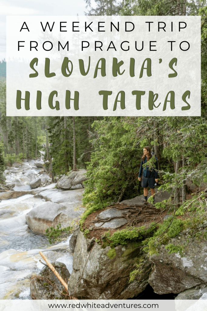 Pin for Pinterest of a weekend trip in the High Tatras.