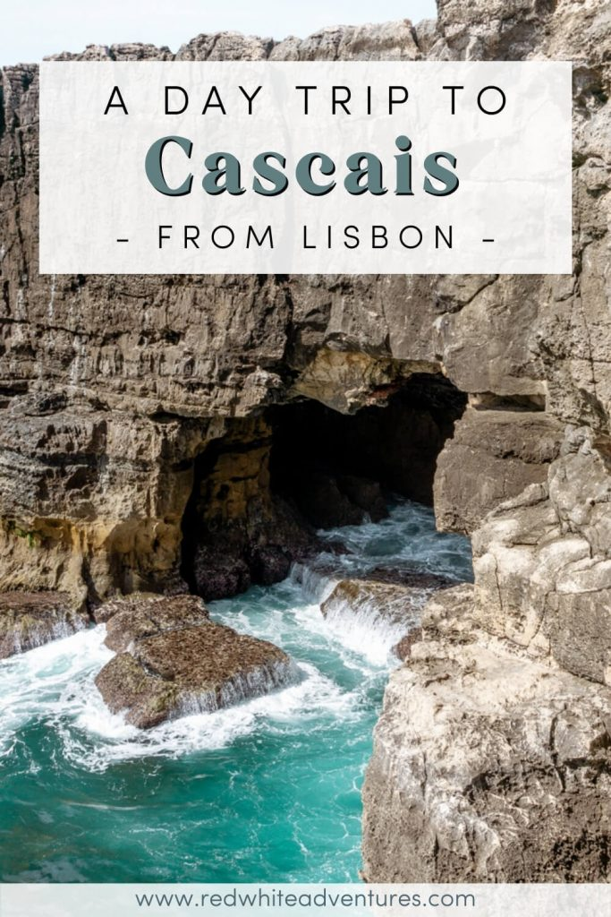 Pin for Pinterest of a day trip from Lisbon to Cascais.