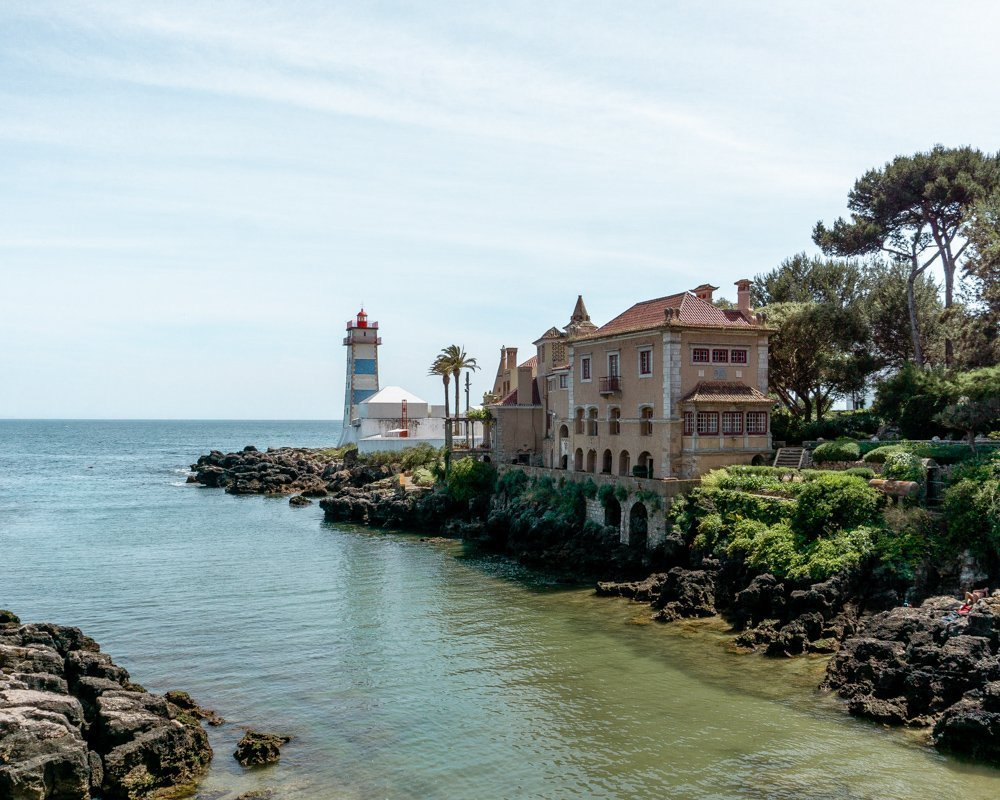 Stunning view of Santa Maria's House in Cascais.