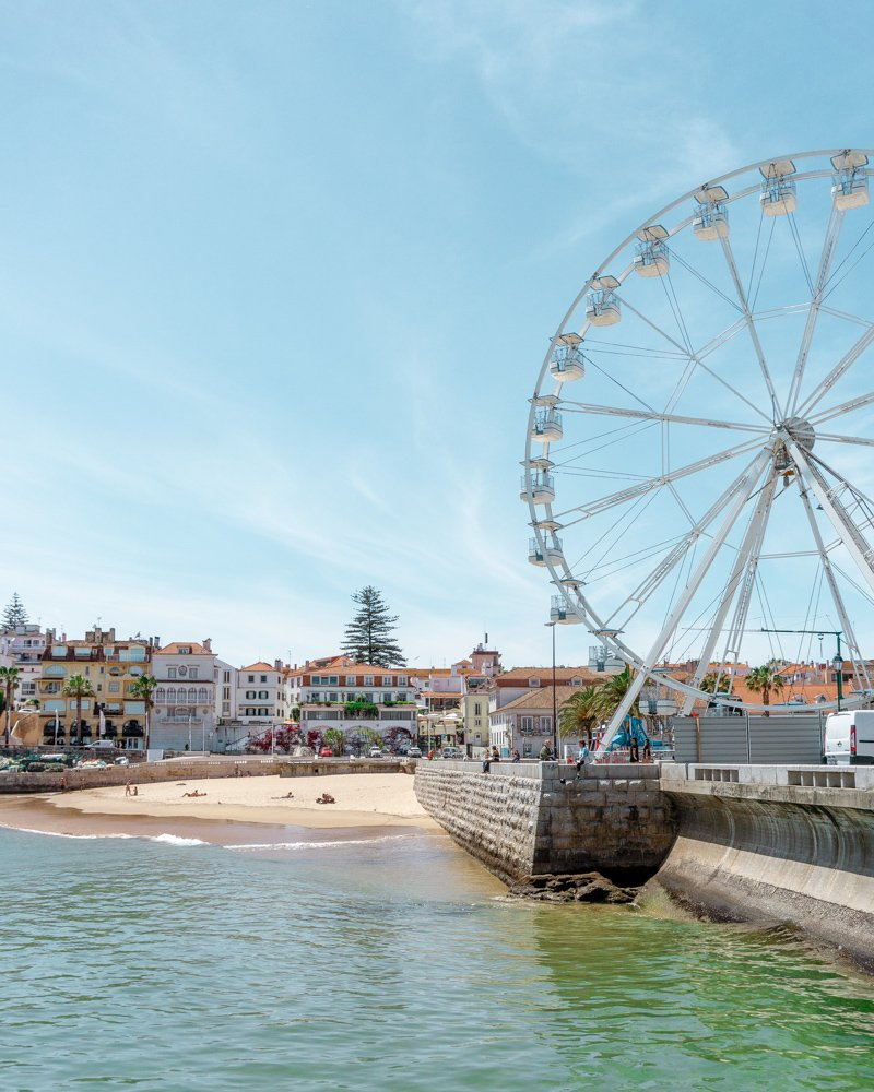 Beautiful view of Cascais and the beach.