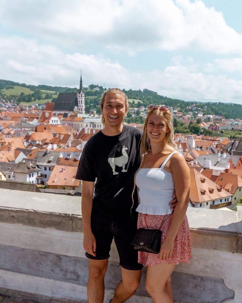 Dom and Jo enjoying time in Cesky Krumlov.