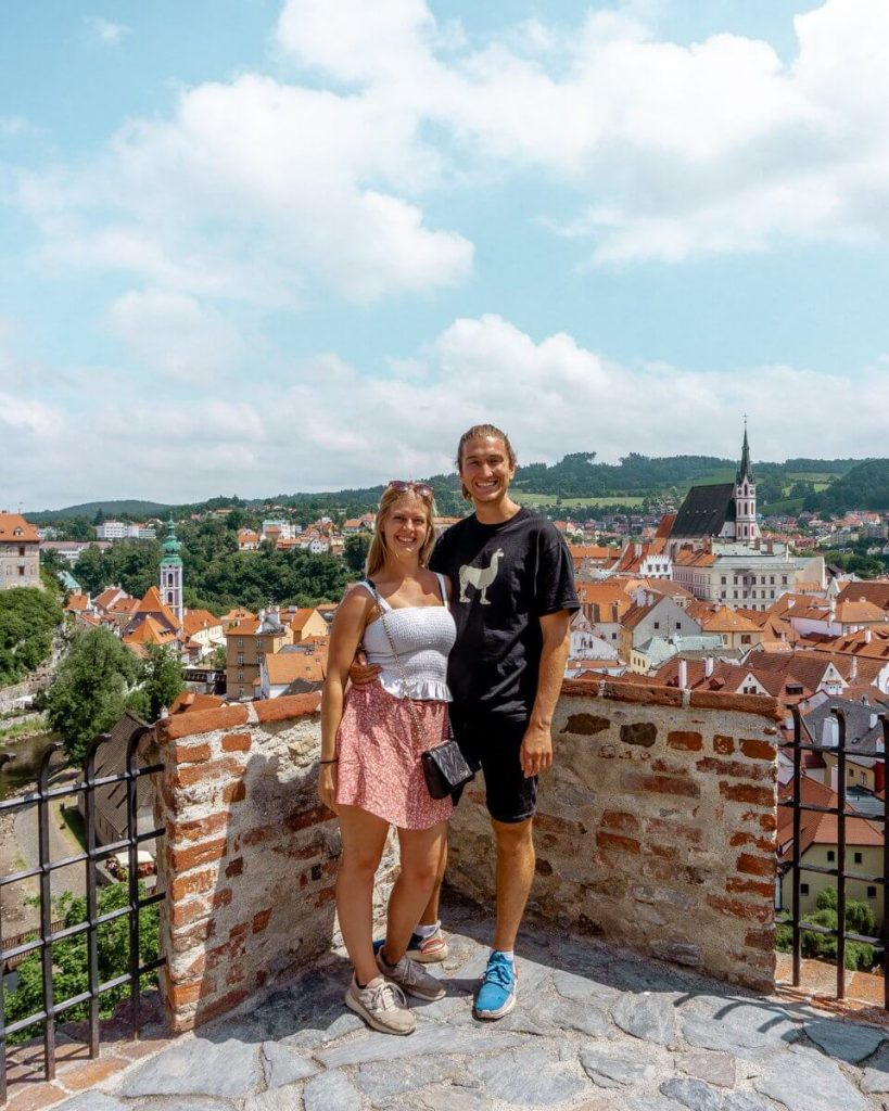 Views from a viewpoint in Cesky Krumlov.