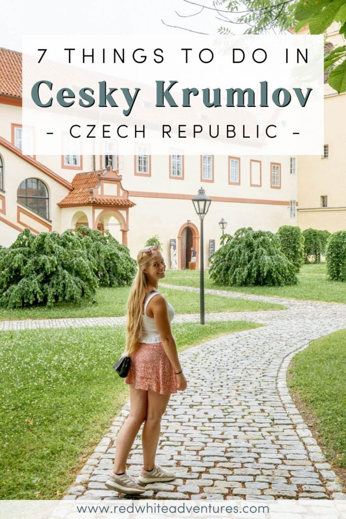 Pinterest Pin for things to do in Cesky Krumlov.