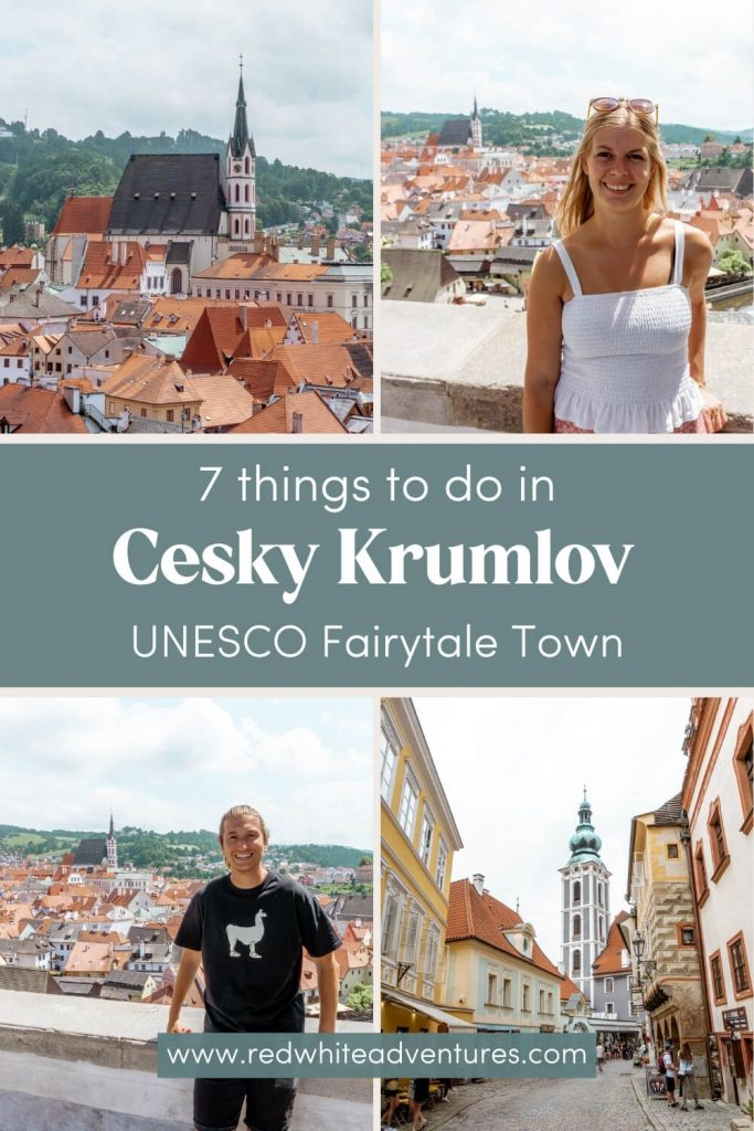 Pin for Pinterest of things to do in Cesky Krumlov.