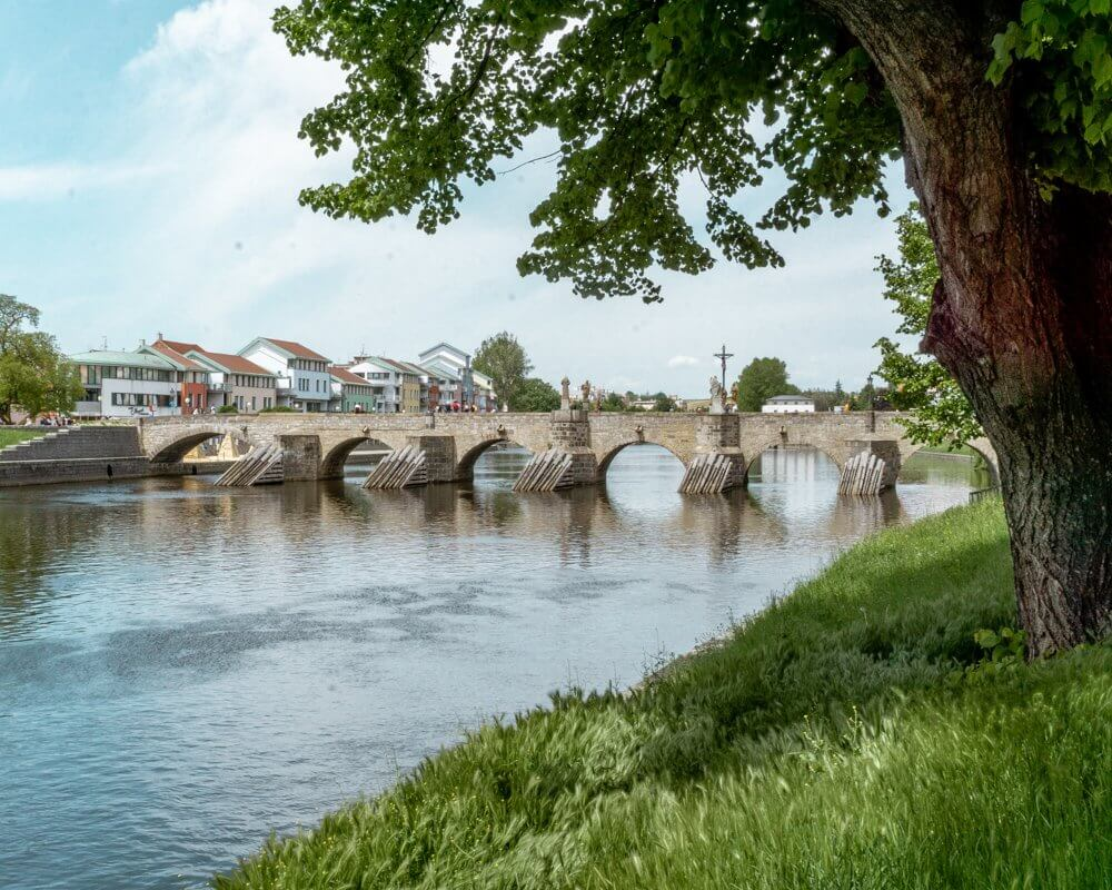 The oldest stone bridge in the Central Europe is right here in Pisek, Czech Republic.