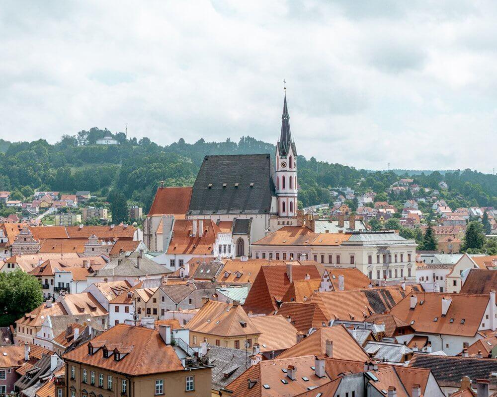Stunning views of Cesky Krumlov in Southern Bohemia.