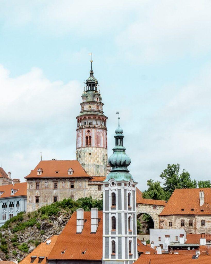 Famous Castle tower in Cesky Krumlov!