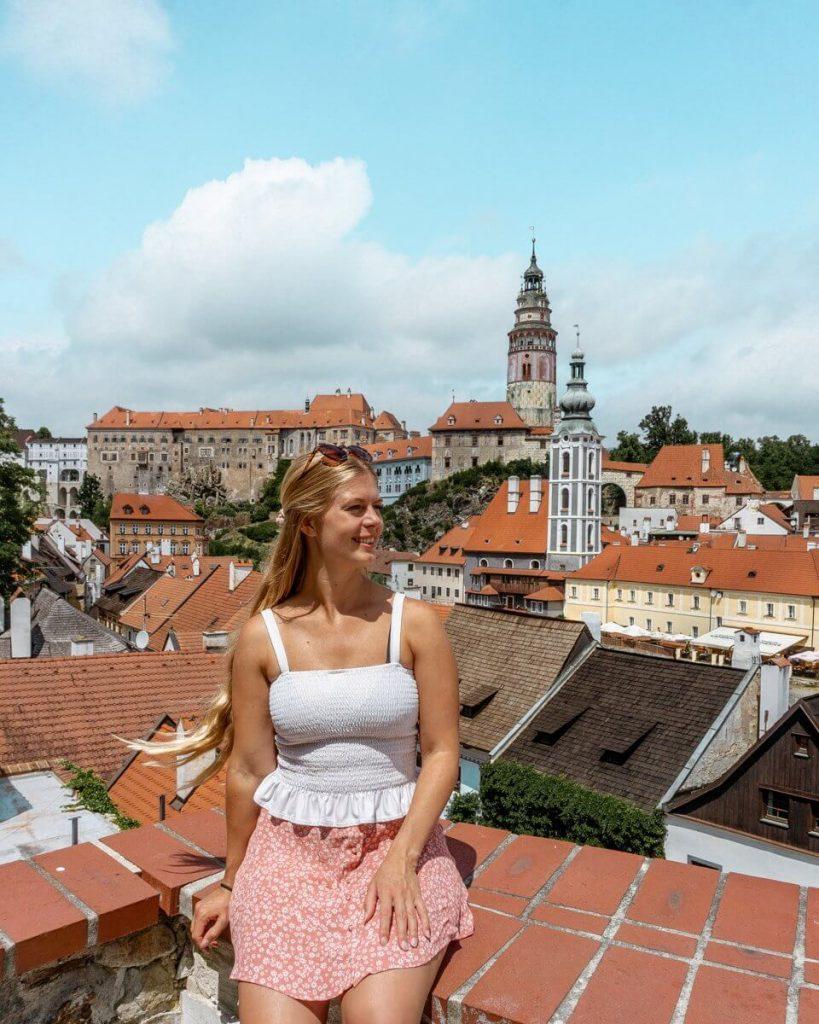 Beautiful viewpoint in Cesky Krumlov.