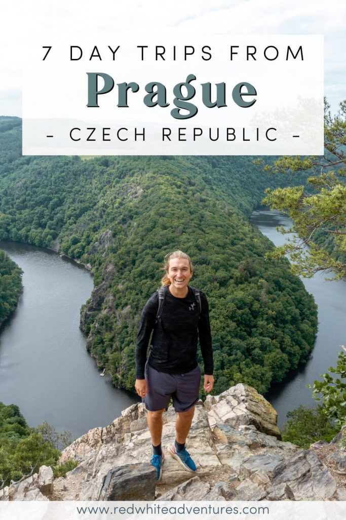 A pin for pinterest of 7 day trips from Prague that you need to do.