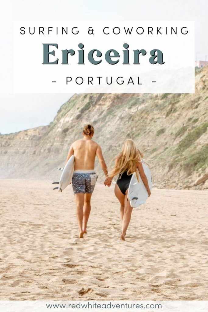 Pinterest Pin for coworking in Ericeira.