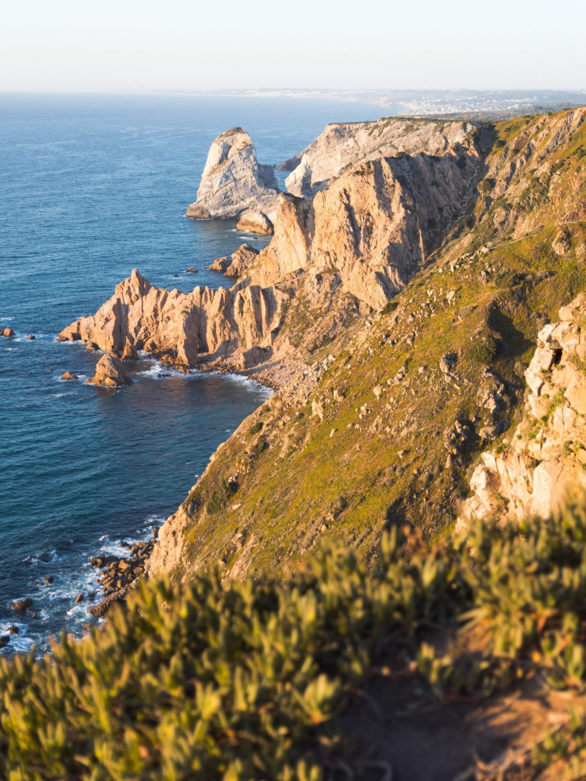 The best views from the amazing Cabo de Roca coastline in Portugal.