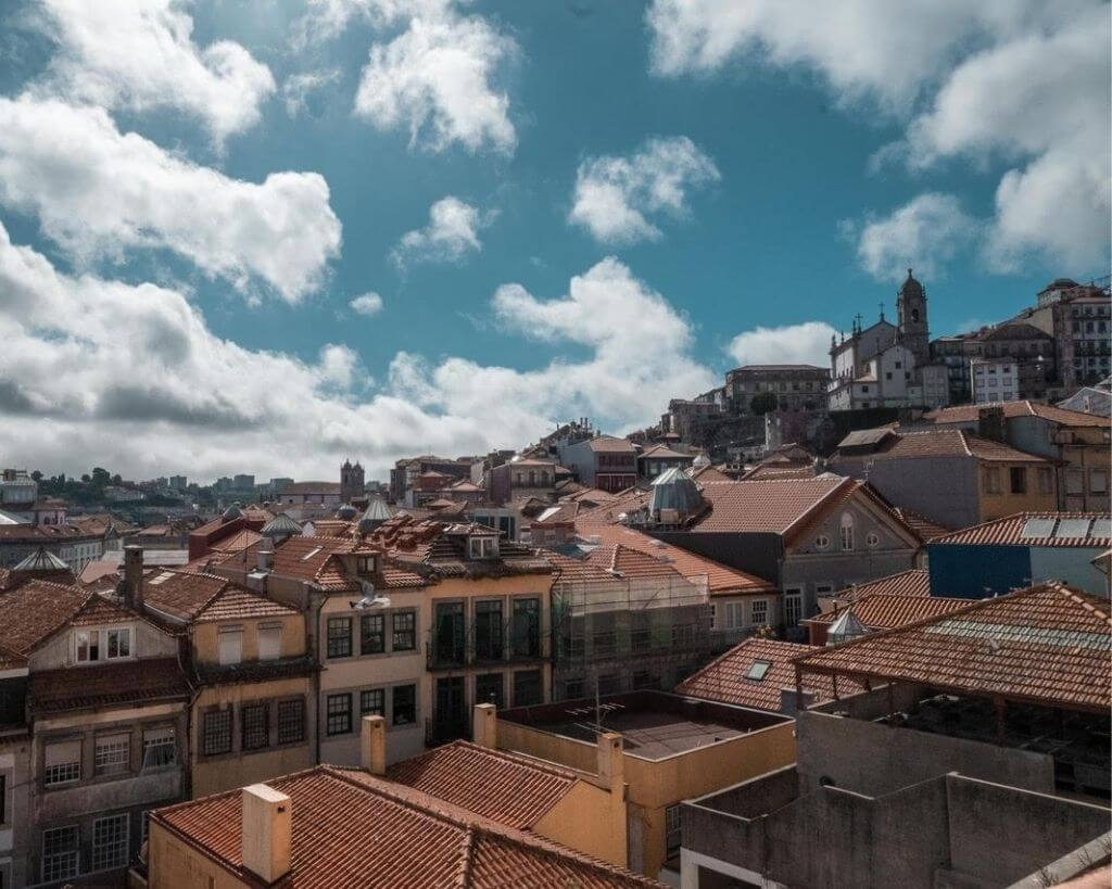 Red roof tops in Porto in Portugal