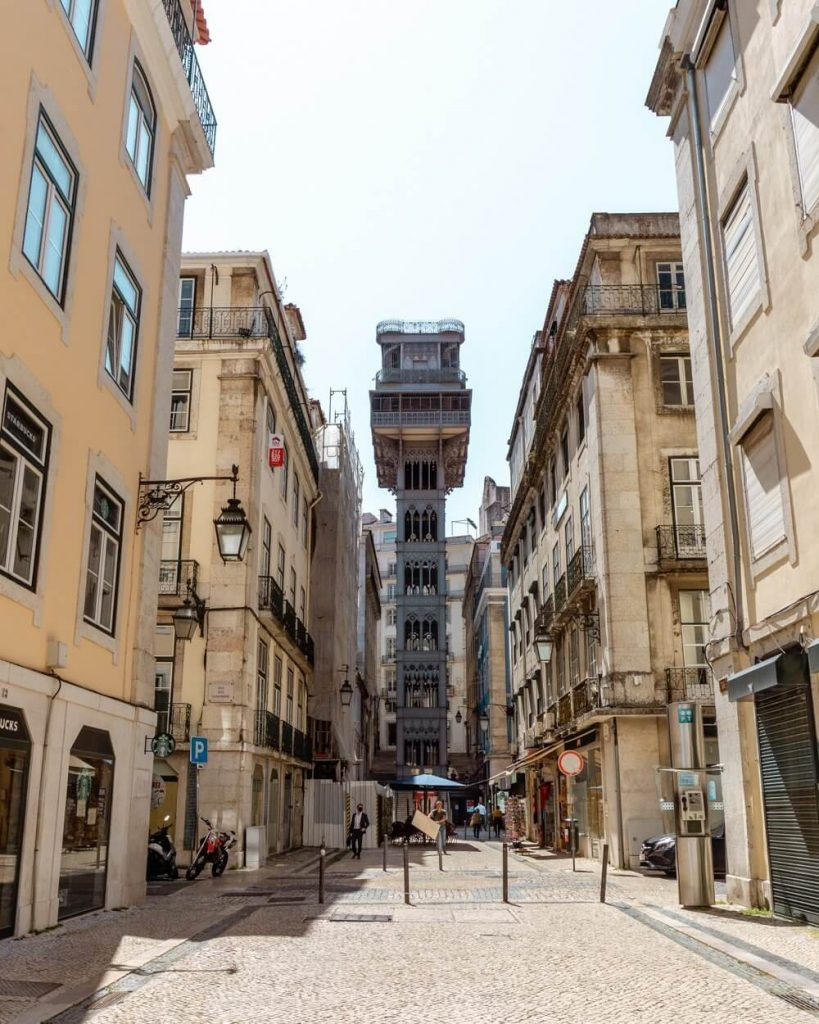 View of the famous Santa Justa Lift.