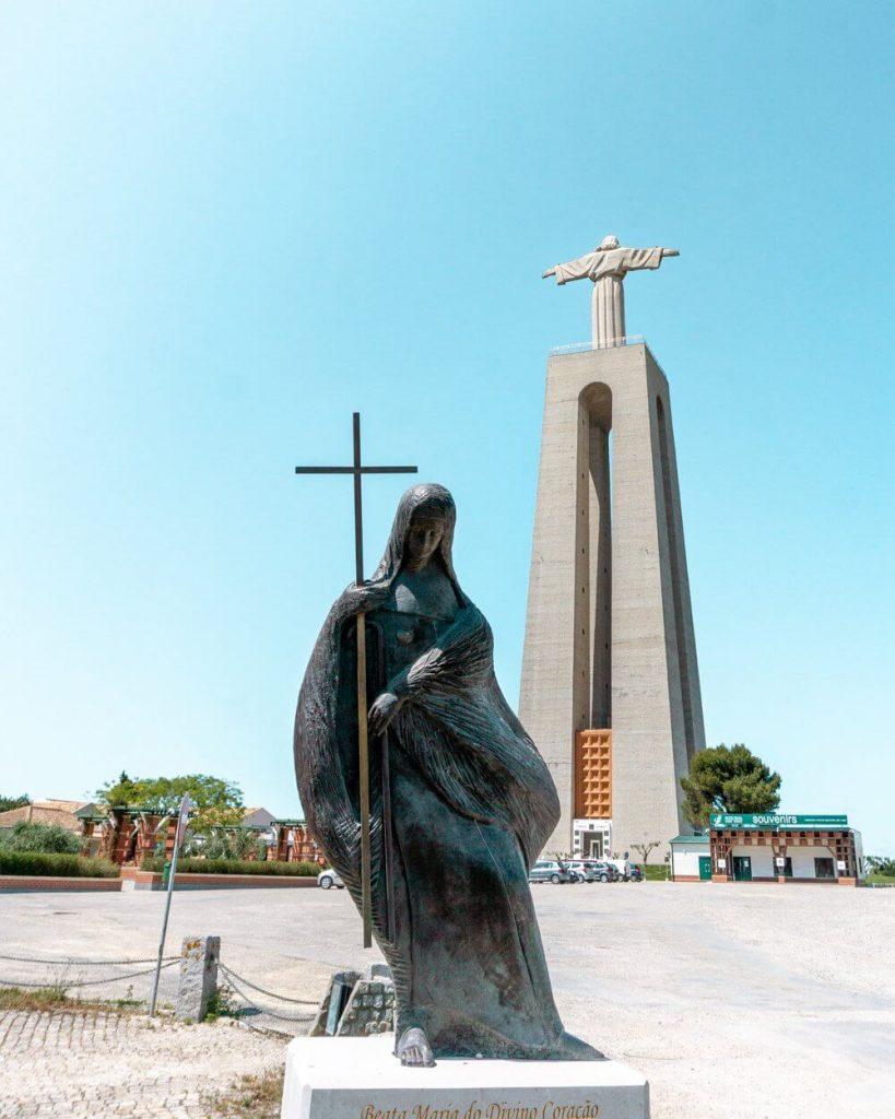 View of Santuario de Cristo Rei in Lisbon.