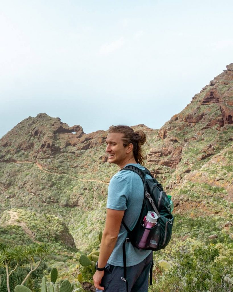 One of the amazing views from hiking in Tenerife.