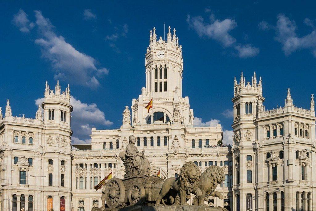 Beautiful building in Madrid, Spain.