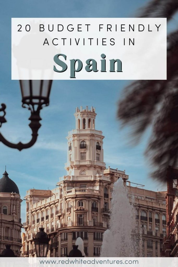 Spain on a budget Pin for Pinterest.