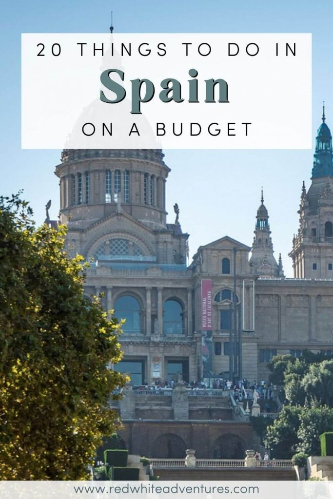 Pin for Pinterest of things to do on a budget around Spain.