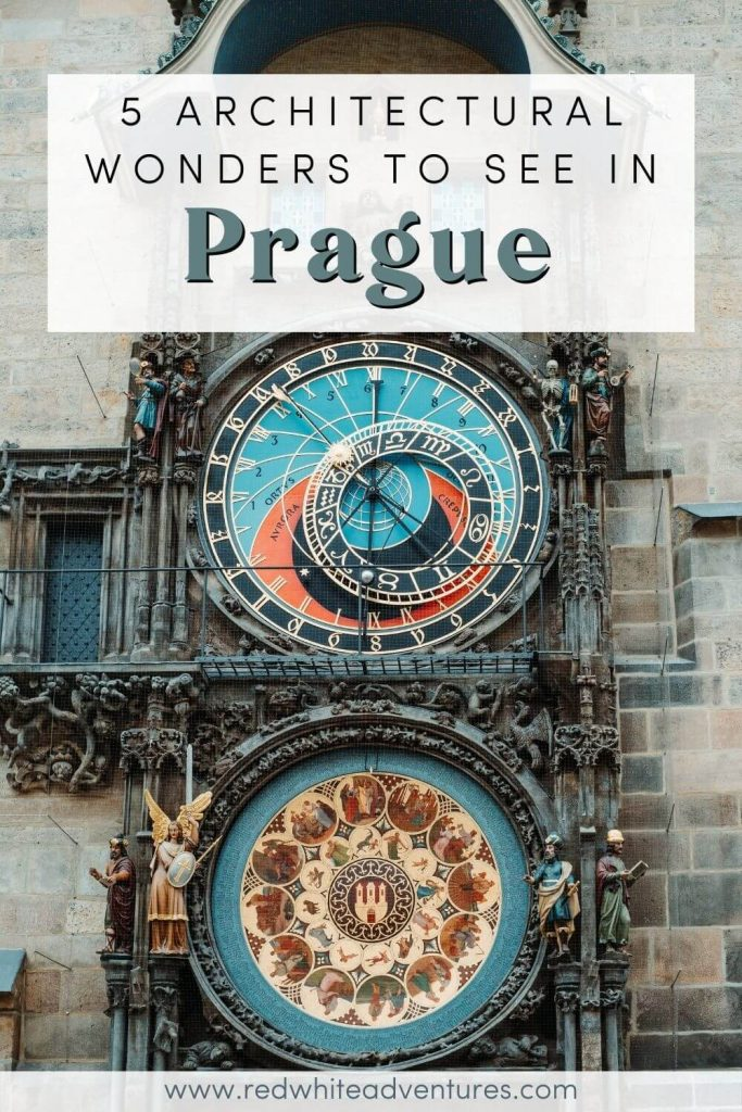 Pin for Pinterest about architecture in Prague.