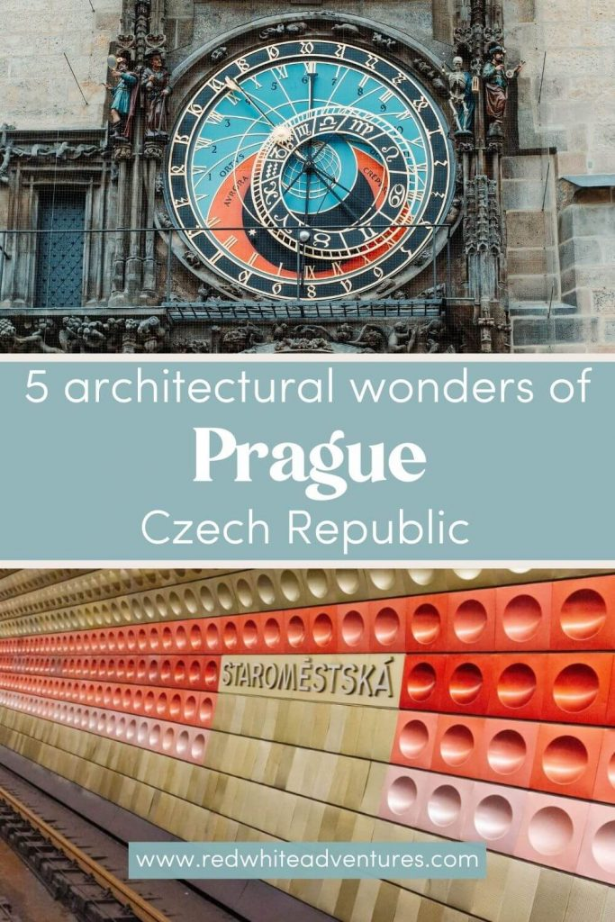 Pin for Pinterest about wonders of Prague.
