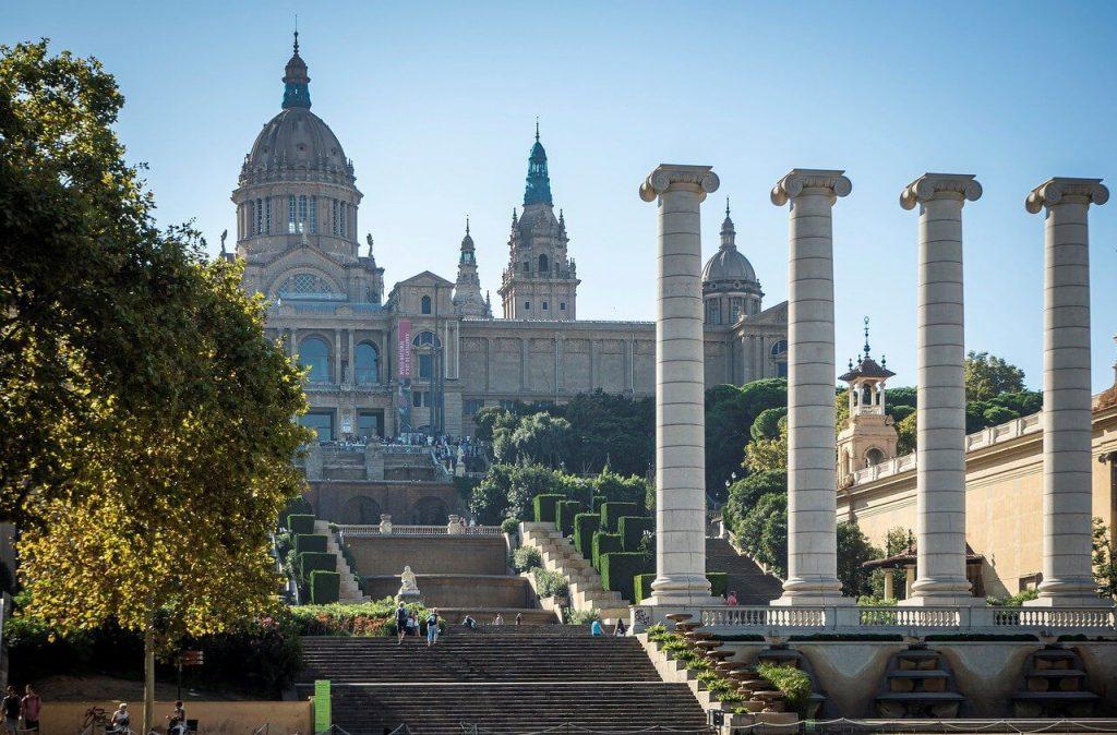 Beautiful view of Gaudi's Park in Barcelona.