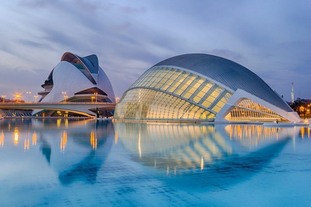 Beauitful architecture building in Valencia, Spain.