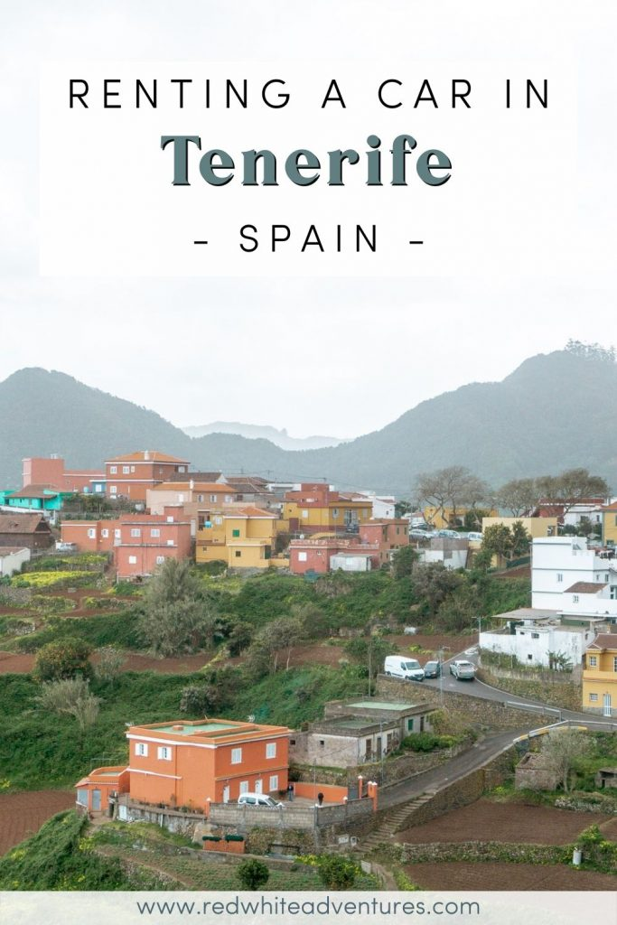 Pin for renting a car in Tenerife in Spain
