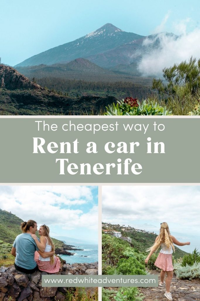 Pin for the best cheap car rental in Tenerife, Spain