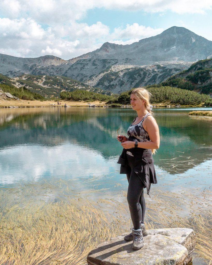 Jo exploring the mountains near Bansko Bulgaria.