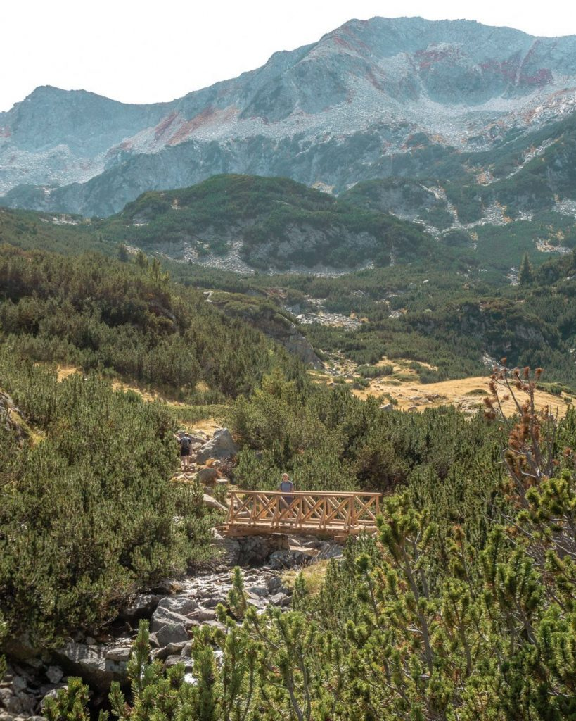 Hiking in the Pirin Mountains.