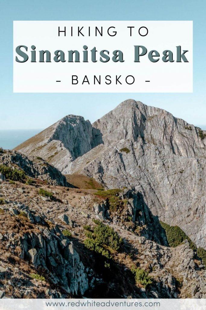 Sinanitsa Peak hike in  Bulgaria pin for Pinterest.