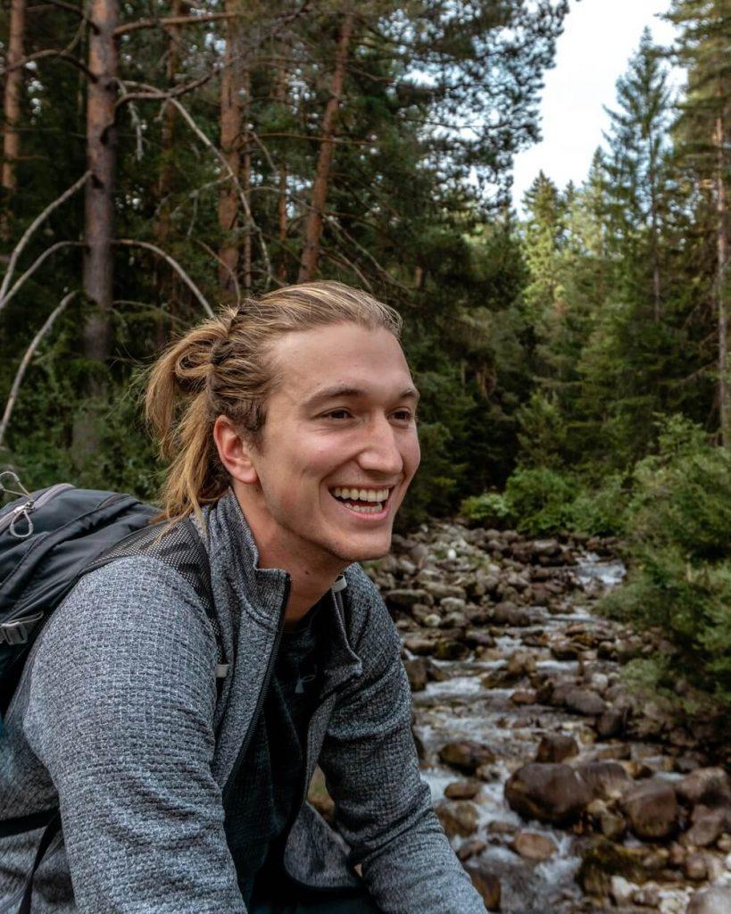 Dom enjoying hiking in Bulgaria.