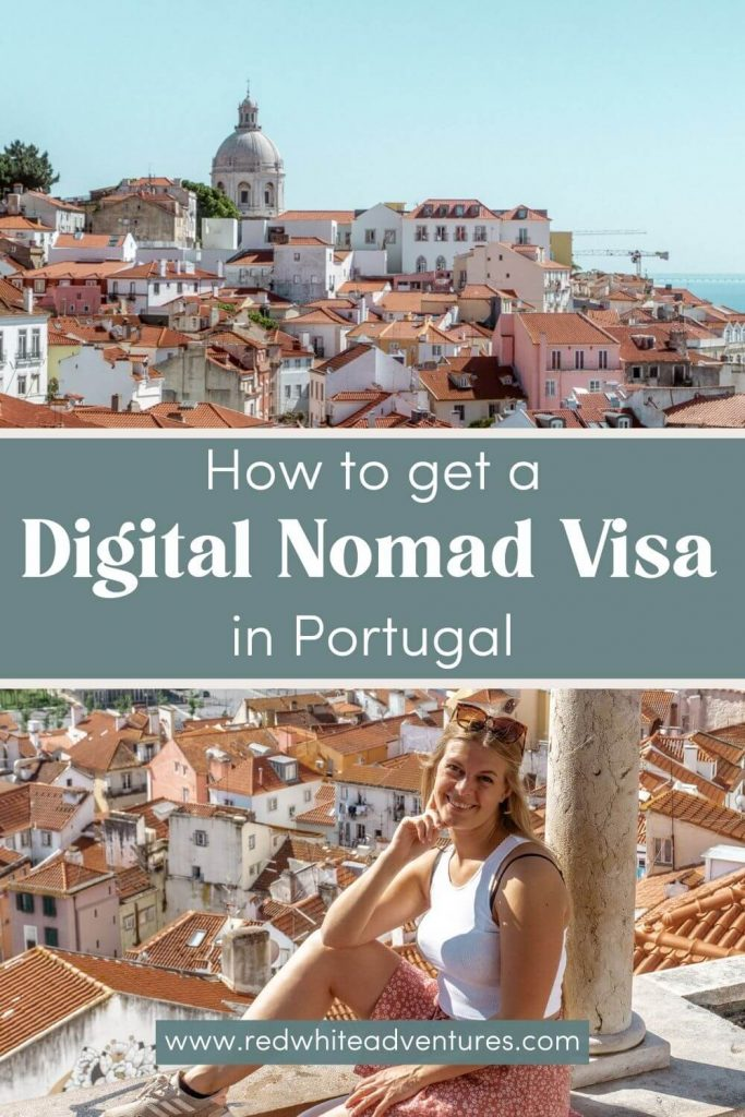 Pin for Pinterest on how to get a digital nomad (d7) visa in Portugal.