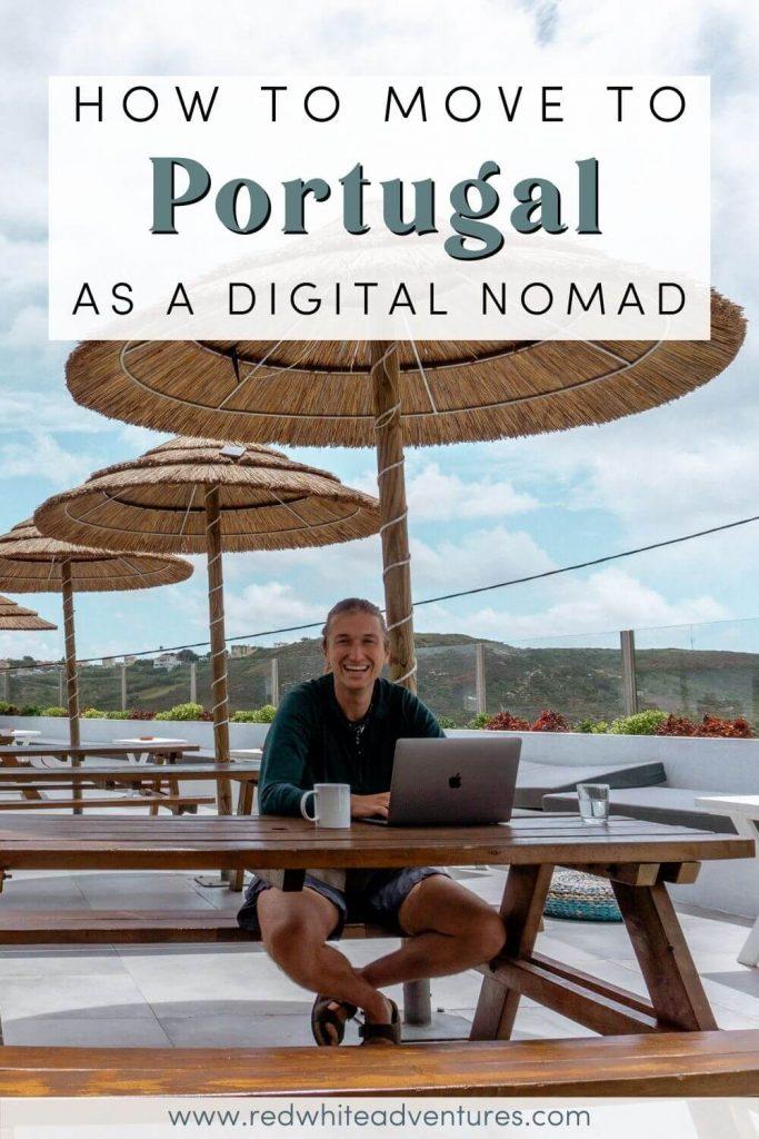 Pinterest about the D7 digital nomad visa in Portugal.