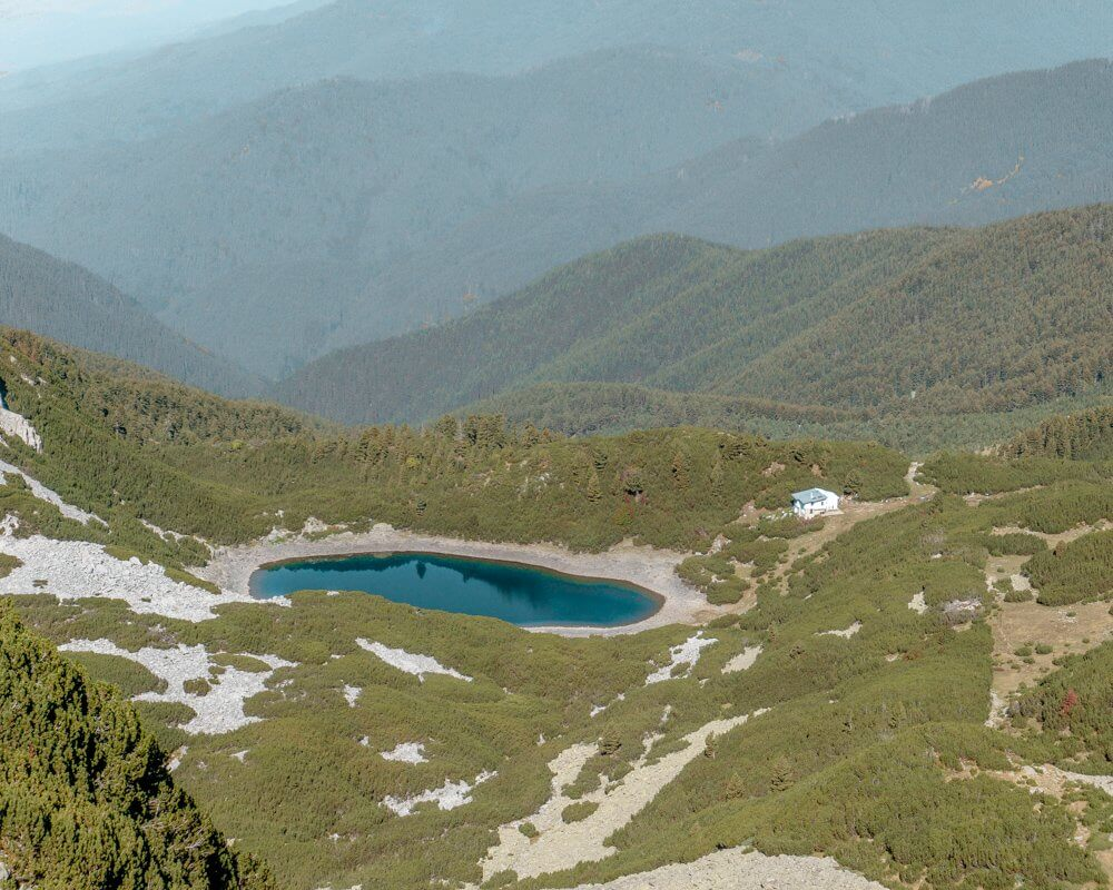 Views of Sinanitsa Lake and Hut in the Pirin National Park.