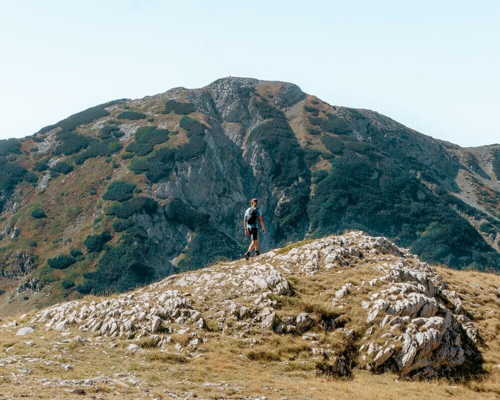 Dom exploring the Pirin National Park.