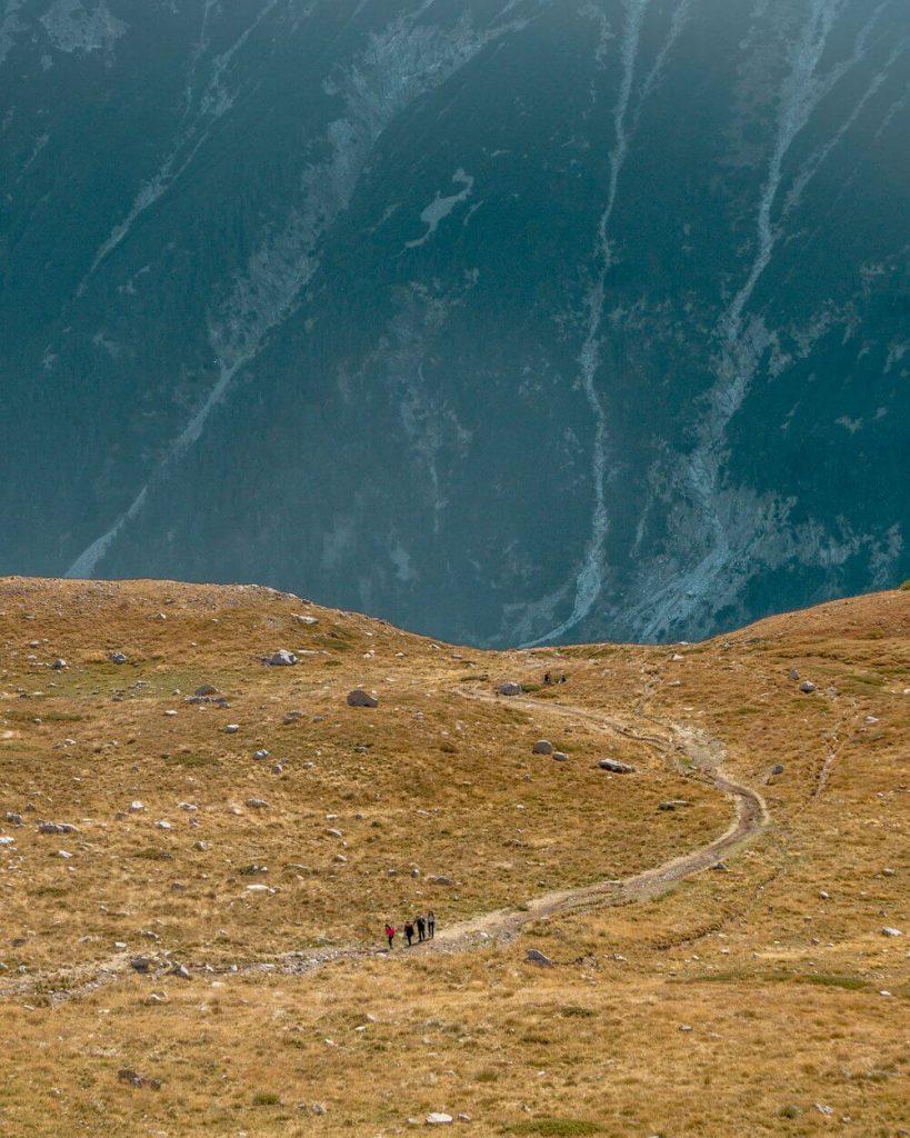 Hiking in the Pirin National Park in Bulgaria.