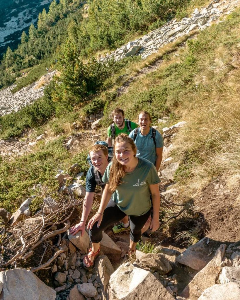 Hiking in Bulgaria.