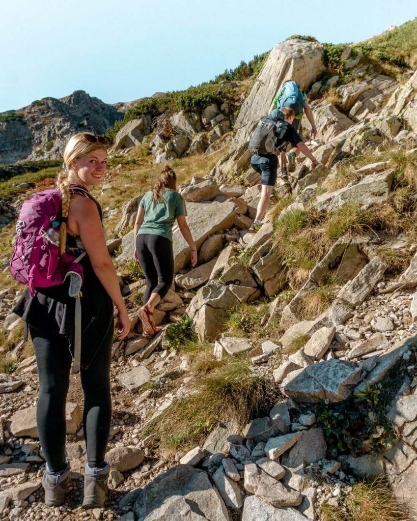 Jo exploring the Pirin National Park.
