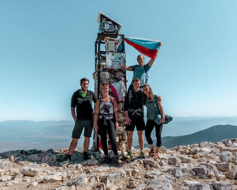 We made it to the summit of Vihren Peak.