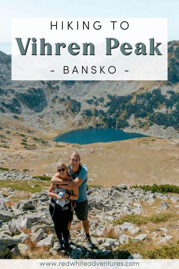 Pin for Pinterest of hiking near Bansko.