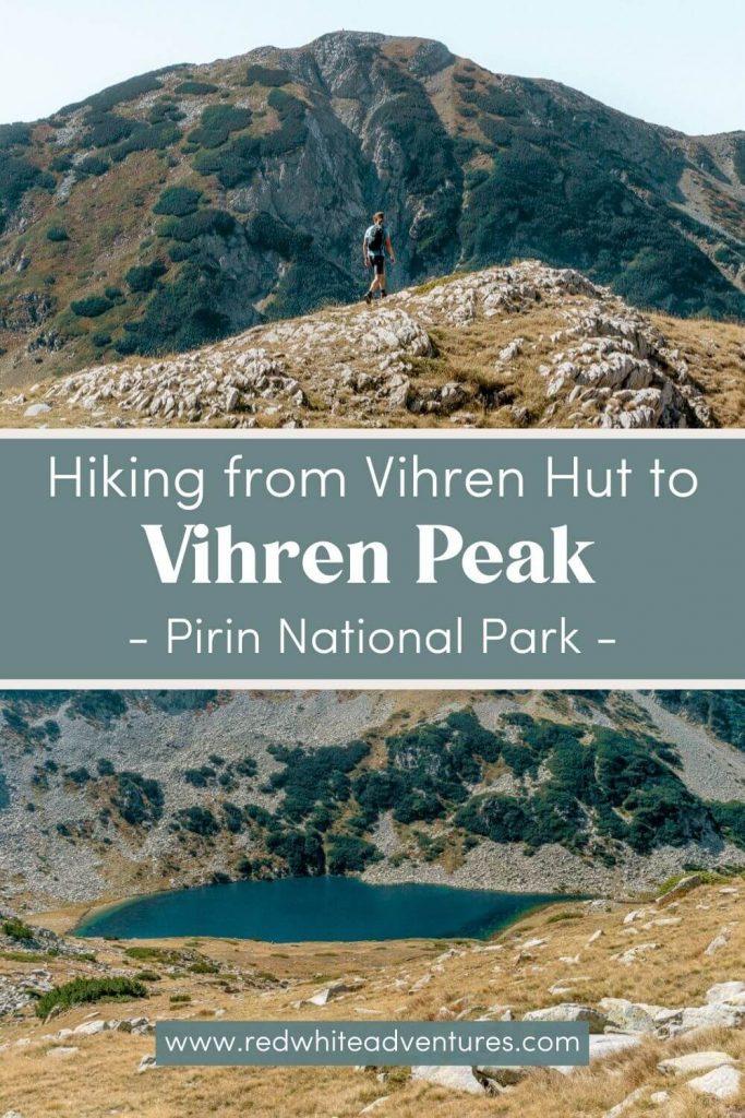 Pin for Pinterest for Vihren Peak in Bulgaria.